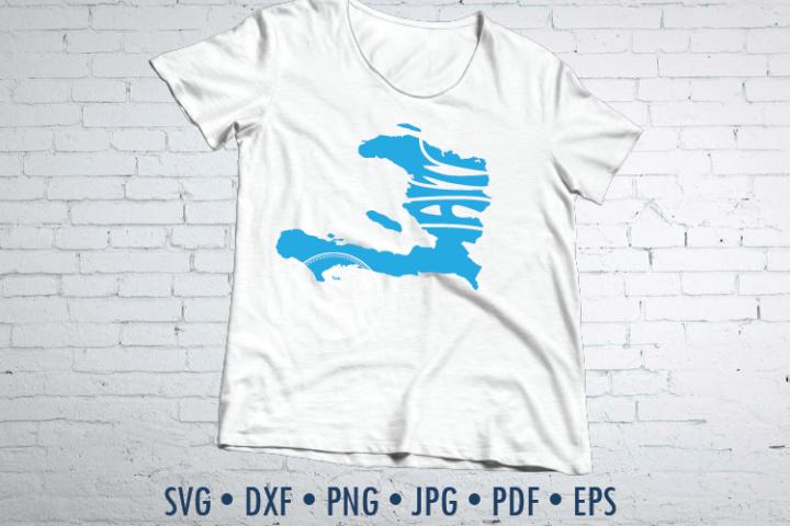 Haiti Word Art, Svg Dxf Eps Png Jpg, cut file