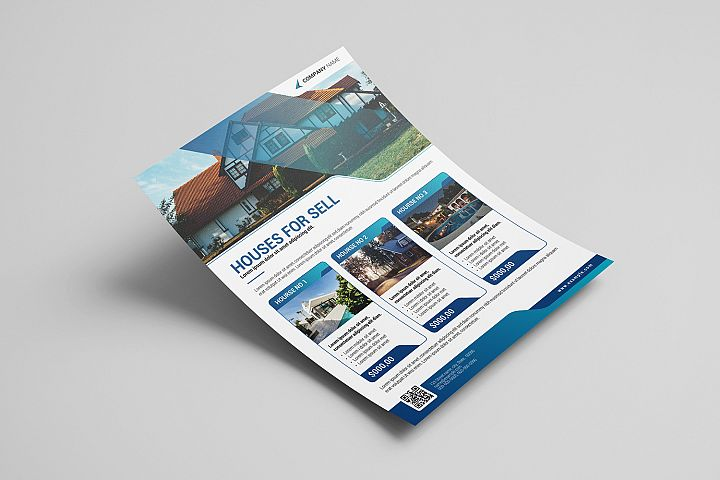 Real Estate Flyer Template | Illustrator & MS Word template