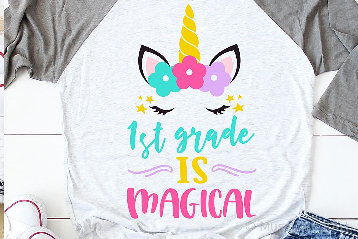 1st Grade is Magical Svg, Girl First Grade Svg, Unicorn Svg