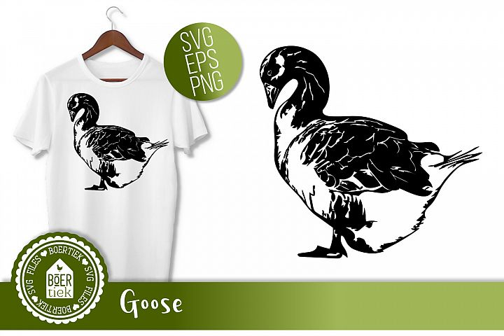 Goose, SVG cutting file, farm animal
