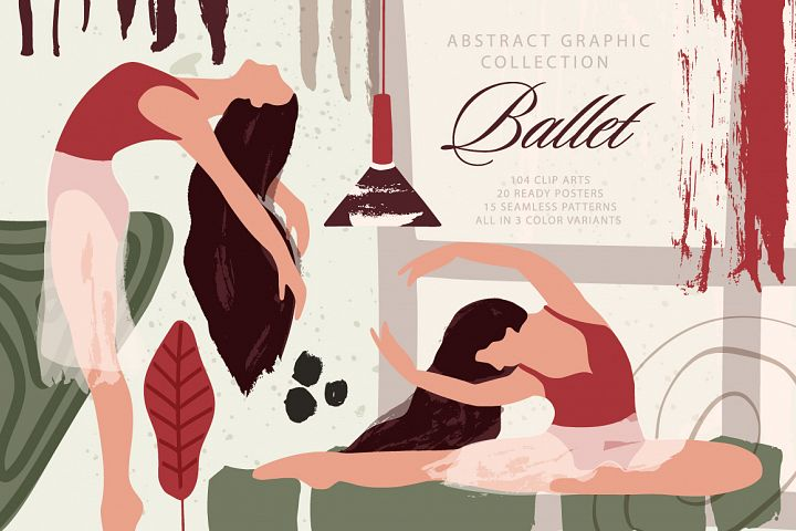 Ballet. Abstract Graphic Bundle.