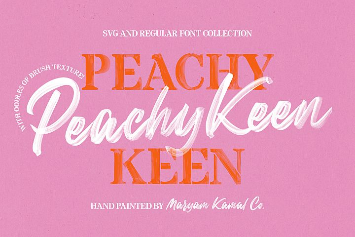 Peachy Keen Font Collection