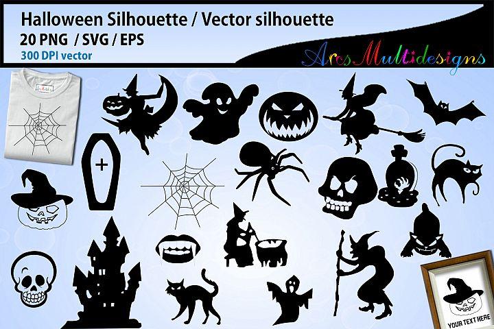 Halloween SVG silhouette / Halloween Ghost svg vector