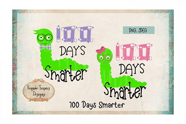 100 Days Smarter Boy and Girl Worm
