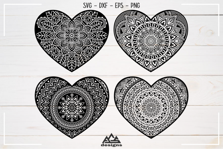 Love Heart MANDALA Svg Design