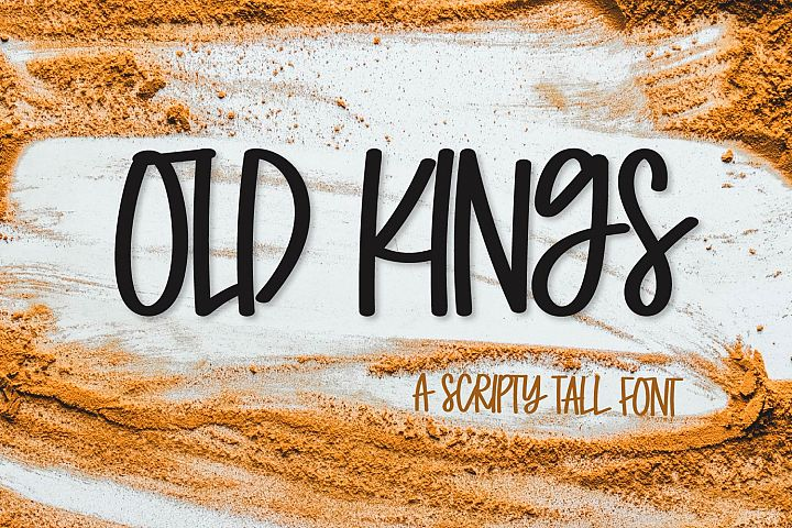 Old Kings - A Scripty Caps Font