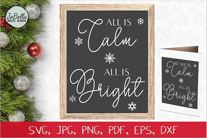 Silent Night Christmas SVG, PNG & Printable