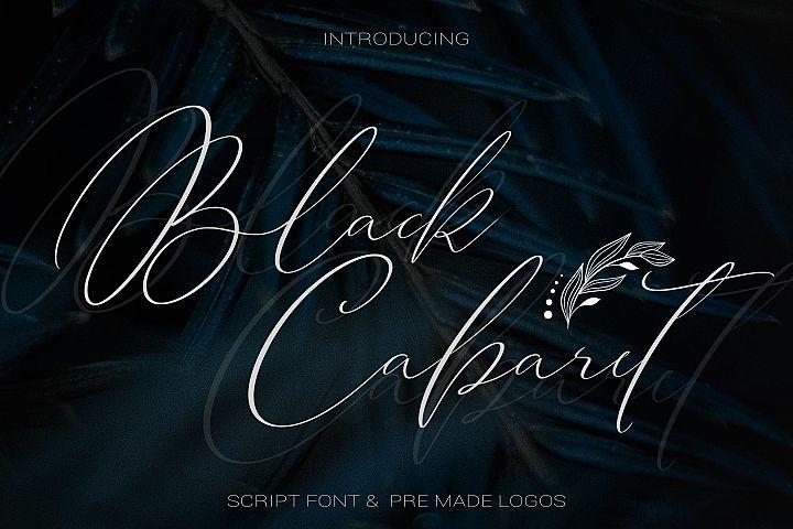 Black Cabaret Script Font & Logos