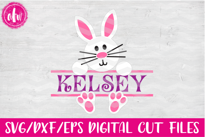 Split Bunny - SVG, DXF, EPS Cut File