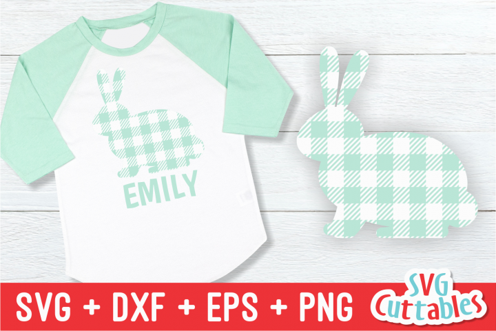 Buffalo Plaid Bunny | Easter svg Cut File
