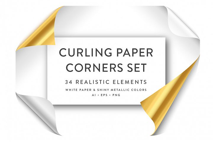 Curling Paper Corner Folds Set