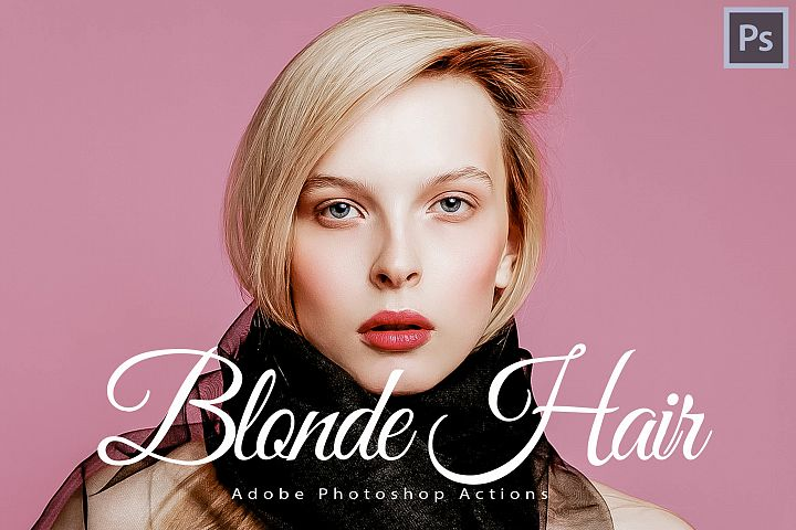14 Blonde Hair Photoshop Actions, ACR and LUT presets