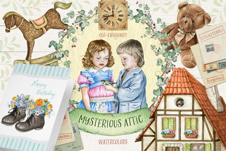 30%OFF Mysterious Attic Watercolors