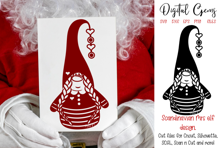 Scandinavian Mrs elf / gnome, Christmas design