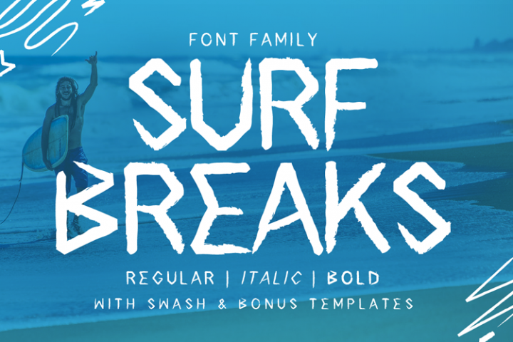 Surf Breaks - Family Font with Swash & Extras