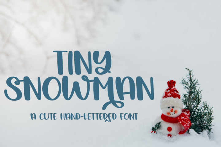 Tiny Snowman - A Cute Hand-Lettered Font