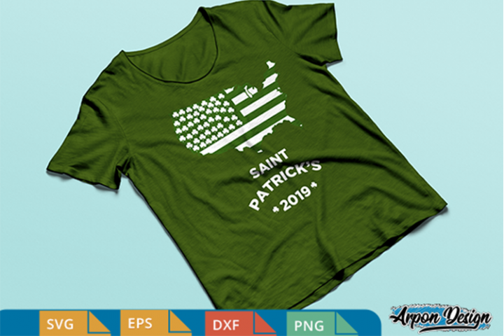 San patrick day, usa flag SVG, DXF, EPS, PNG