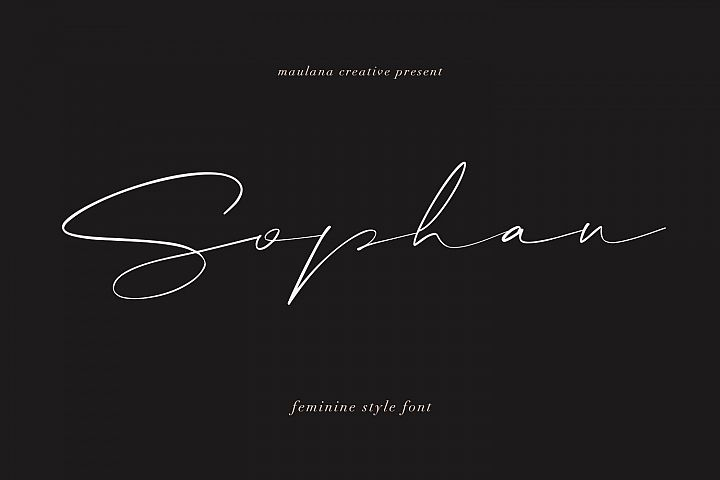 Sophan Calligraphy Font