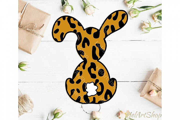 Leopard Print Bunny svg, Easter Bunny svg, Easter rabbit svg