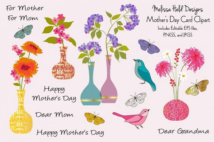 Mothers Day Card Clipart