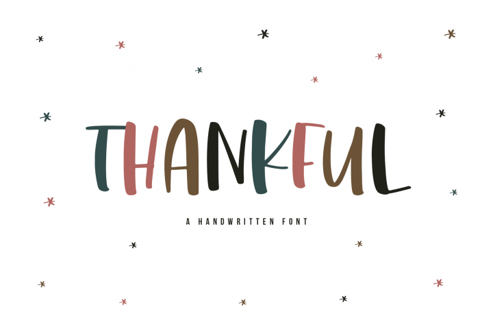 Thankful - A Cute and Chunky Handwritten Font