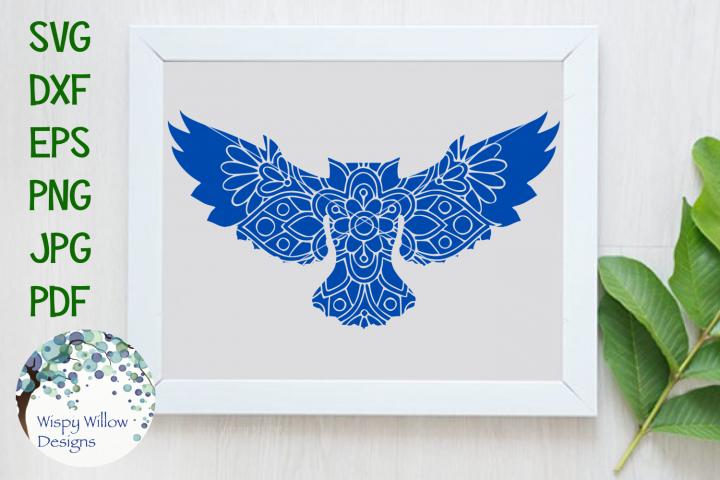 Owl Mandala, Animal Mandala SVG Cut File