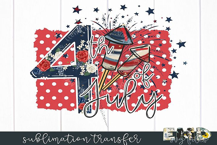 4th Of July Sublimation Transfer example 1