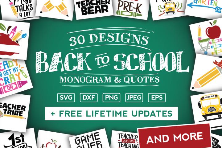 Back To School SVG Bundle in SVG, DXF, PNG, EPS, JPG