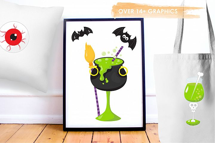 Halloween Cocktails graphics and illustrations - Free Design of The Week Design3