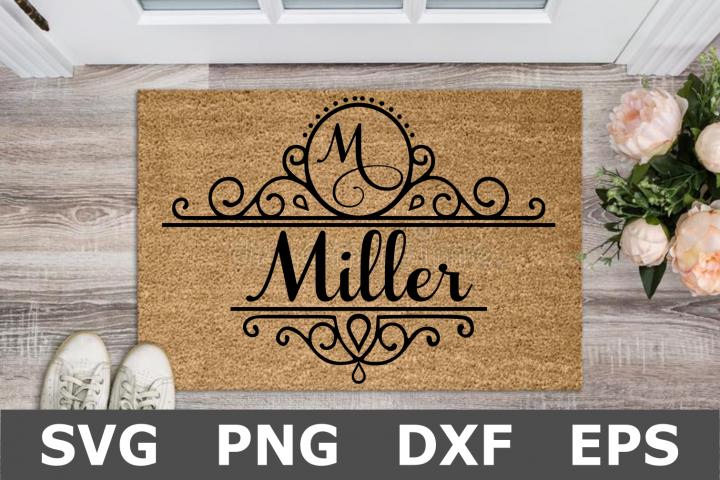 Split Name Monogram Sign - A Family SVG Cut File