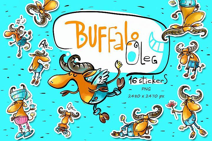 Buffalo Oleg - 16 illustrations