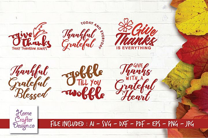 Digital Cutting Files_SVG_Thanks Giving