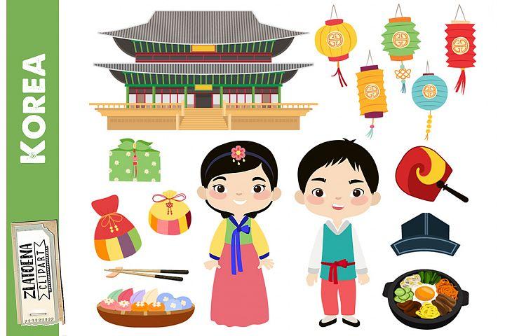 Korea clipart Korean digital clip art Korean Family Clipart