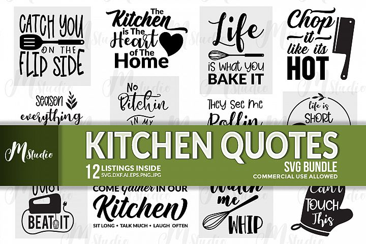 Kitchen Quotes svg bundle