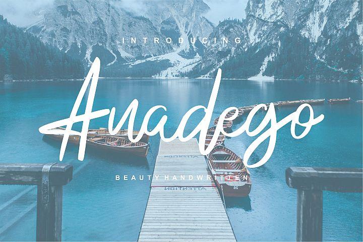 Anadego | Beauty Handwritten Script Font