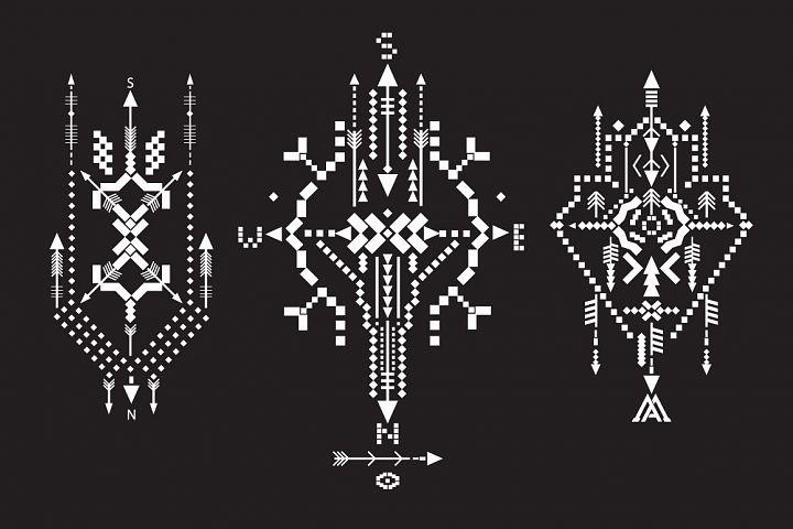 Boho totem. Sacred geometry example 3