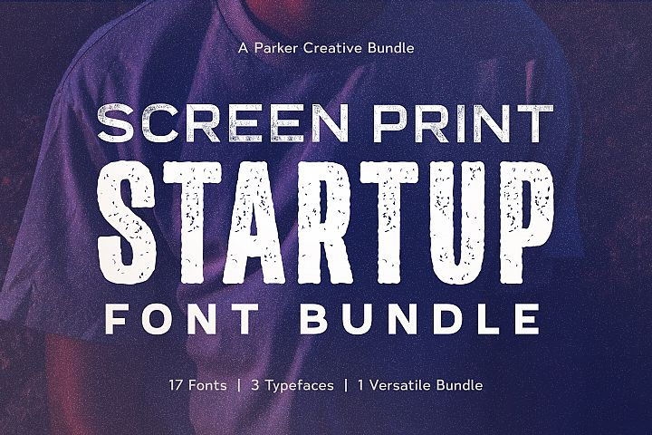 Screen Print Startup Fonts Bundle