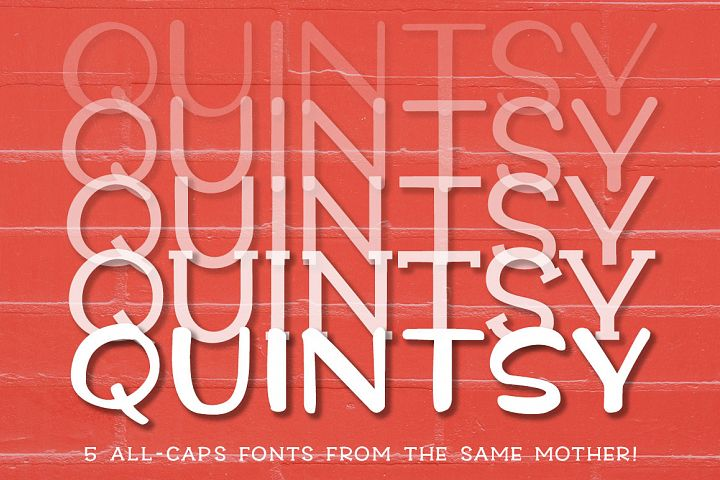 Quintsy - a five-font set!