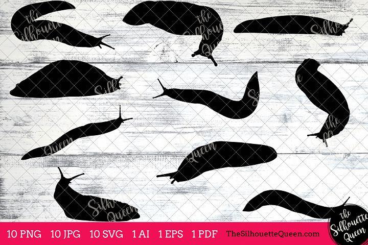 Sea Slug Silhouette Clipart Clip Art (AI, EPS, SVGs, JPGs, PNGs, PDF) , Sea Slug Clip Art Clipart Vectors - Commercial and Personal Use