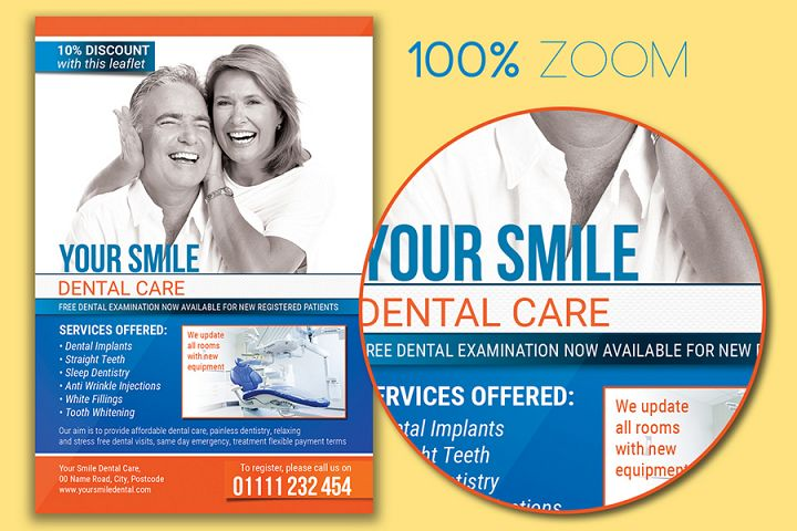Dental Care Flyer Template example 2
