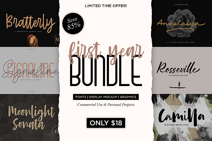 First Year Bundle !! 85 OFF !!