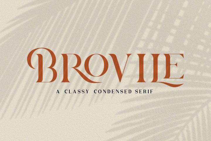 Brovile. A Classy Serif
