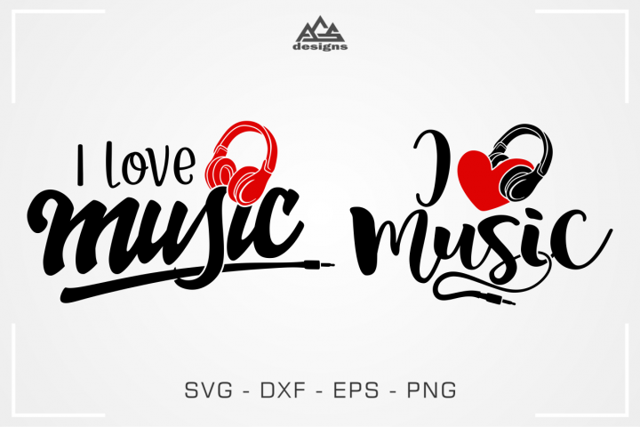 I Love Music Svg Design