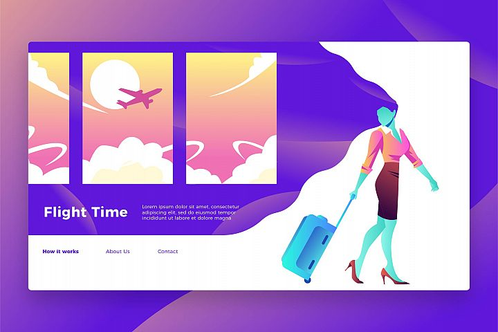 Flight Time - Banner & Landing Page