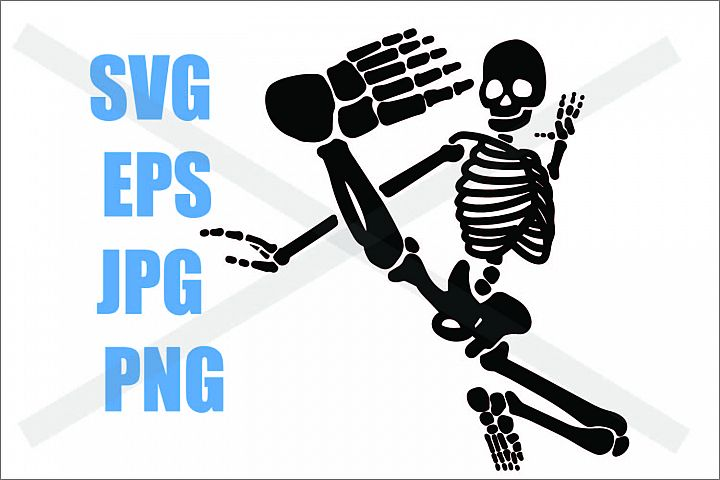 Skeleton Kicking - SVG-EPS-JPG-PNG