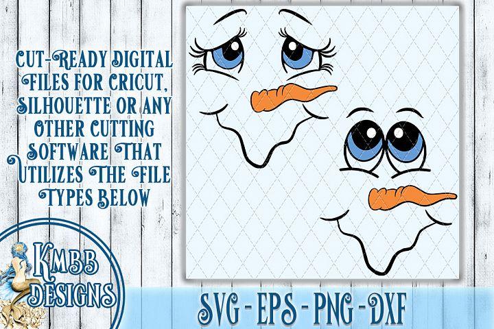 Snowman Face Combo SVG - SVG EPS PNG DXF Cricut Silhouette