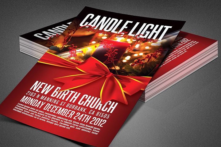 Candle Light Service Church Flyer
