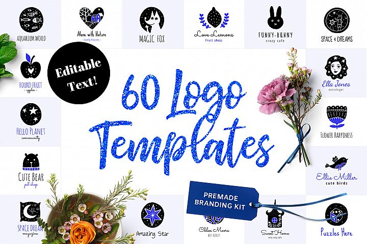 60 Logo Templates - Branding Kit