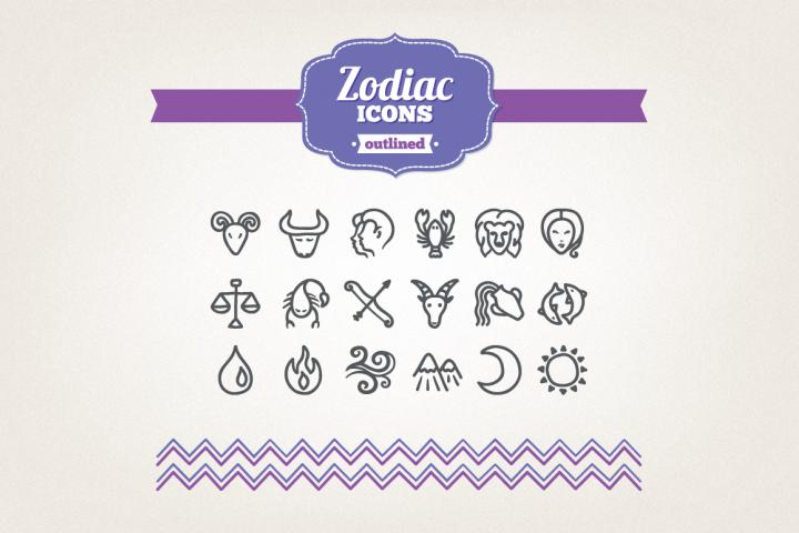 Hand Drawn Zodiac Icons