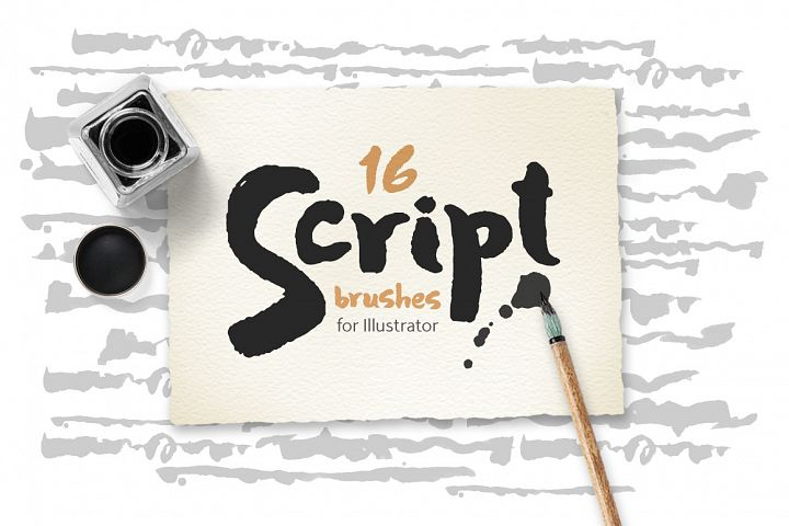Script Brushes for Illustrator
